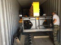 Погрузка погрузчика Dieci  в 40 фут контейнер